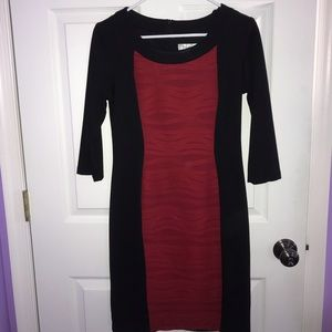 Black and Red Dressbarn, Form Fitting Dress